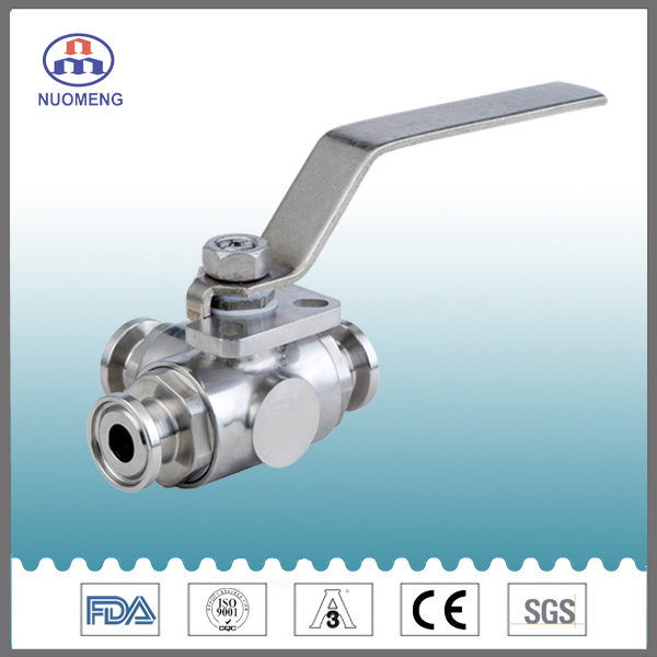 Stainless Steel Clamped Three-Way Ball Valve