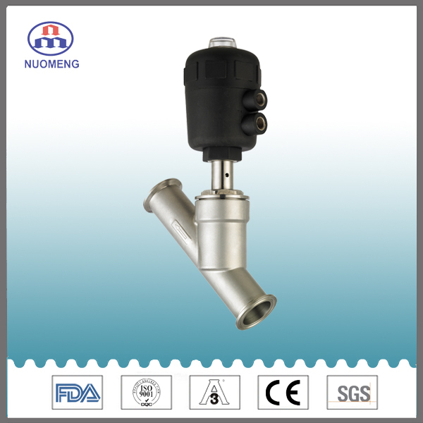Sanitary Stainless Steel Clamped Angle Seat Valve