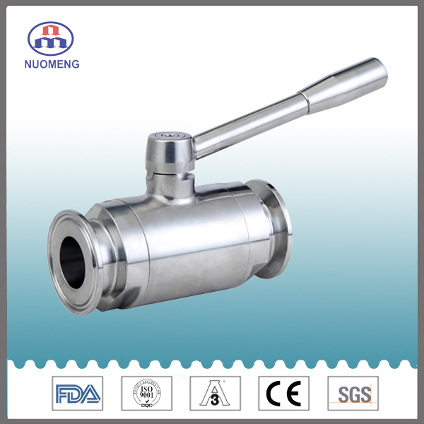 Sanitary Stainless Steel Clamp Non-Retesion Ball Valve