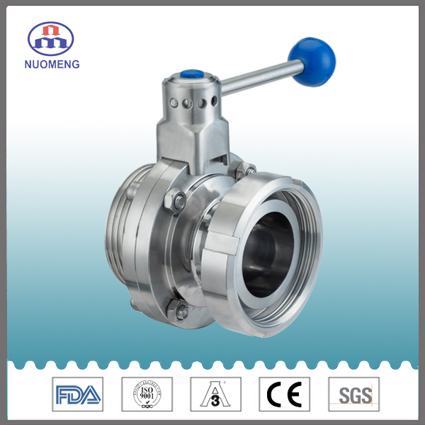 Sanitary Stainless Steel Manual Thread Butterfly Valve