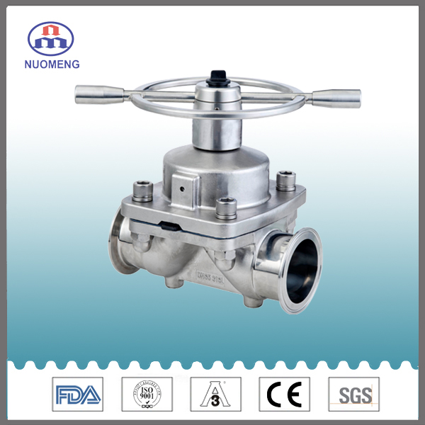 Sanitary Stainless Steel Clamped Manual Diaphragm Valve