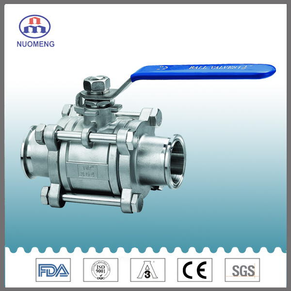 Stailess Steel 2PCS Type Clamped Ball Valve