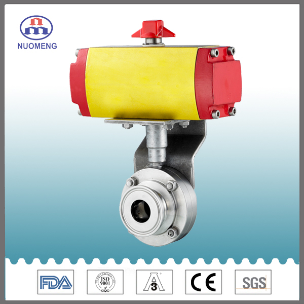 Sanitary Aluminum Clamped Pnematic Butterfly Valve
