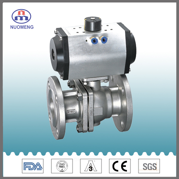 Sanitary Stainless Steel Pneumatic Clamped Ball Valve