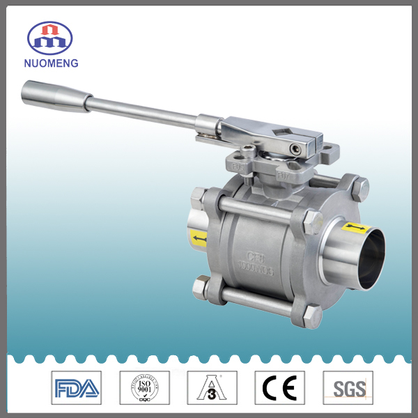 Sanitary 3PCS Welded Vall Valve