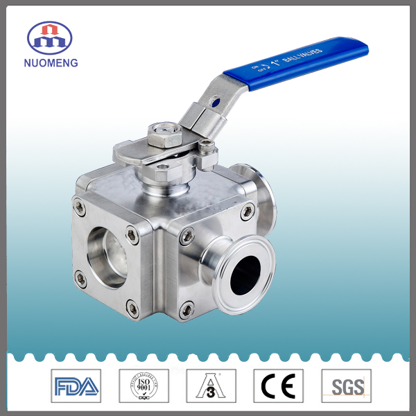 Sanitary Stainless Steel Type L Ball Valve