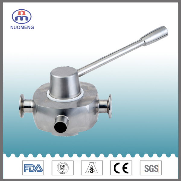 Sanitary Stainless Steel Cross Ball Valve