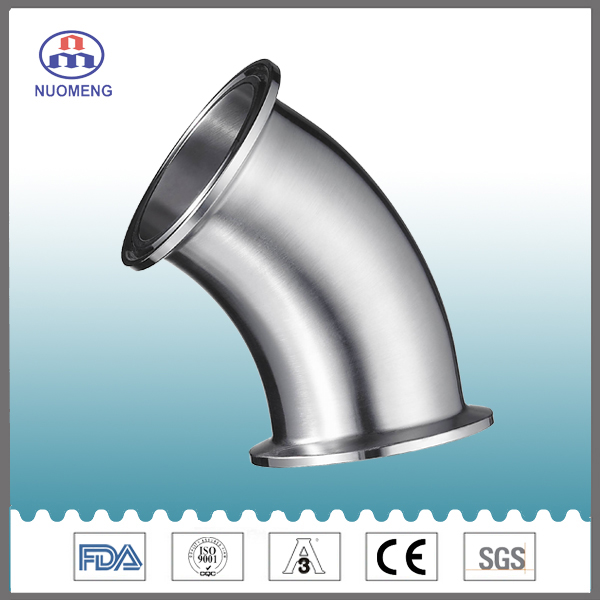 Sanitary Stainless Steel 45 Deg Clamped Elbow