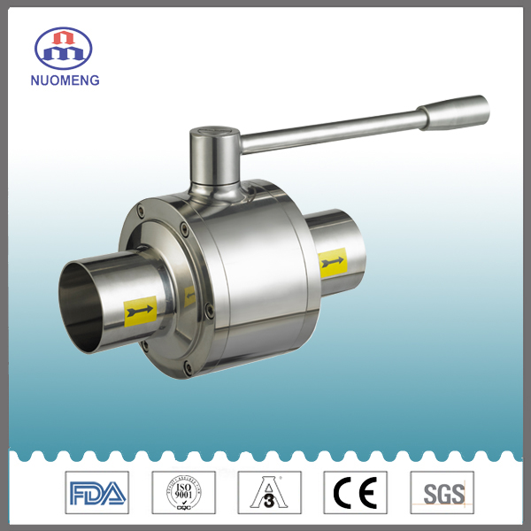 Sanitary Stainless Steel Three-Pieces Type Ball Valve
