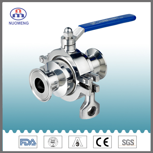 Sanitary Stainless Steel Clamped Non-Residue Ball Valve