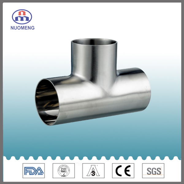 Sanitary Stainless Steel Welded Tee Pipe Fitting