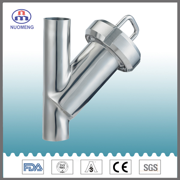 Sanitary Stainless Steel Angle Type Clamped Y-Type Fliter