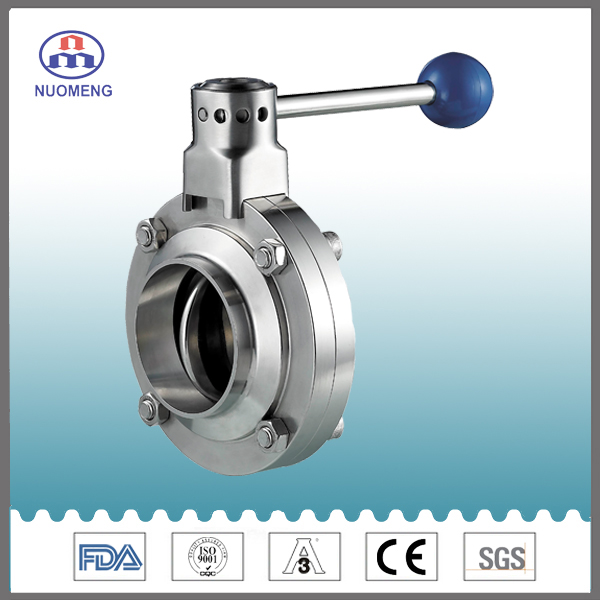 Sanitary Stainless Steel Welded Butterfly Valve