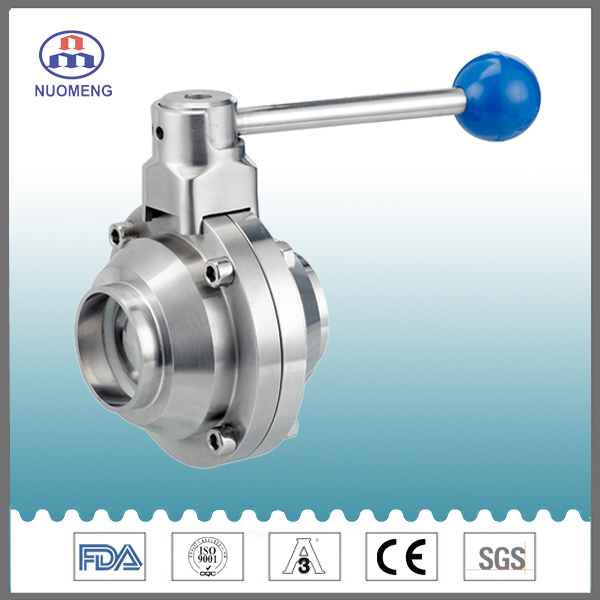 Sanitary Stainless Steel Welded Butterfly-Type Ball Valve
