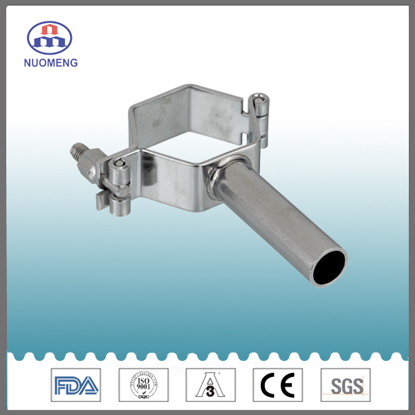Sanitary Stainless Steel Hexagon Pipe Holder with Pipe