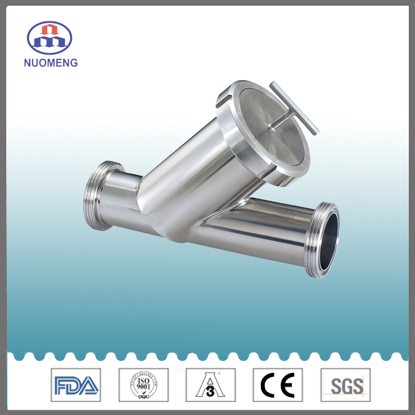 Sanitary Stailess Steel Angle Type Strainer