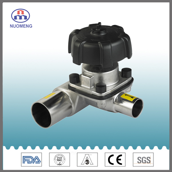 Sanitary Stainless Steel Welded 3-Way Diaphragm Valve
