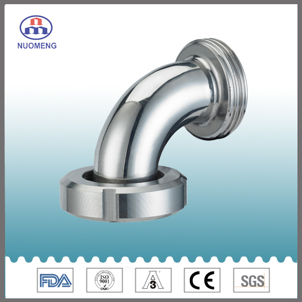 Sanitary Stainless Steel 90deg Male Nut Type Elbow