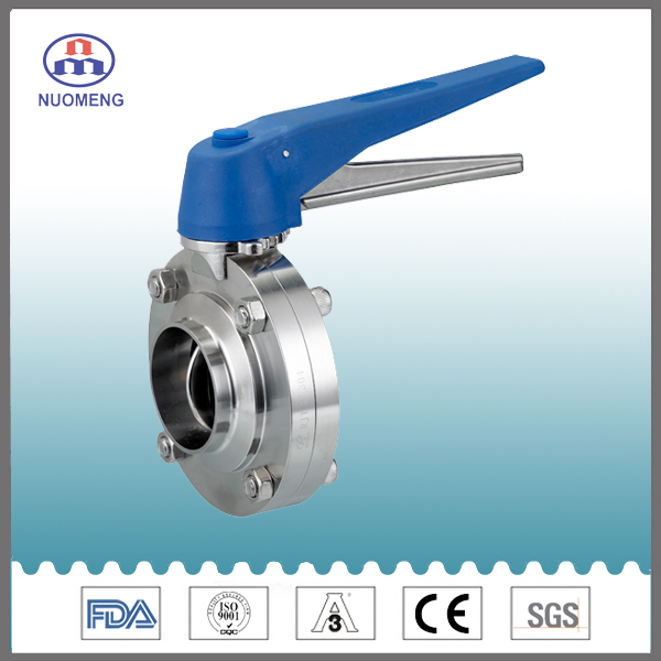 Sanitary Stainless Steel Multi-Position Welded Butterfly Valve