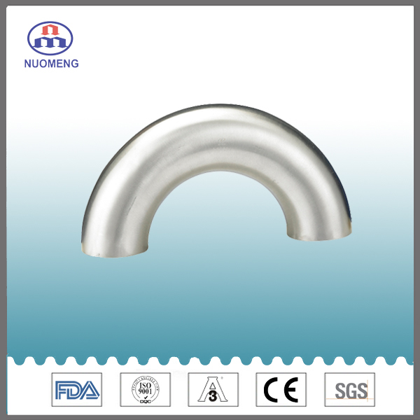 Sanitary Stainless Steel 180 Deg Welded Elbow