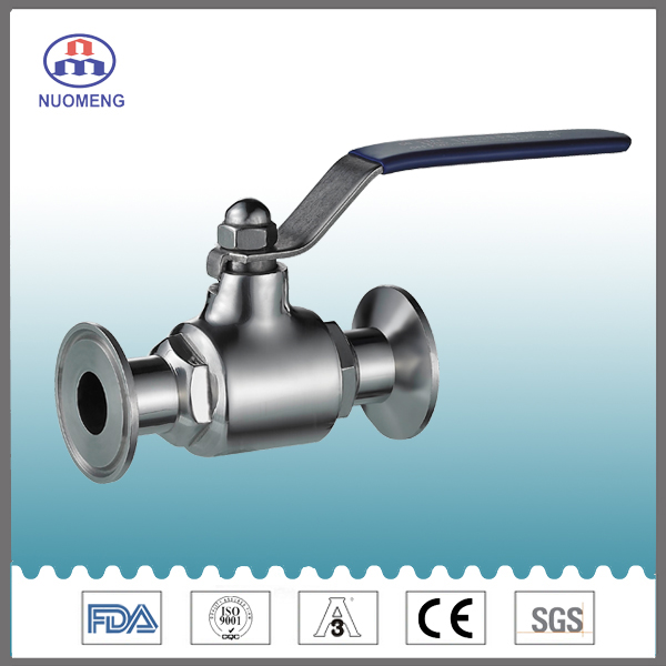 Sanitary Stainless Steel Clamped Straight Ball Valve