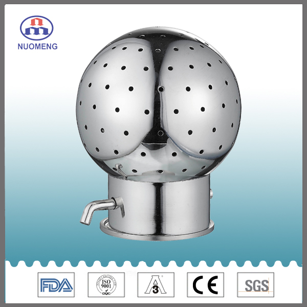 Sanitary Stainless Steel Male Thread Rotary Cleaning Ball